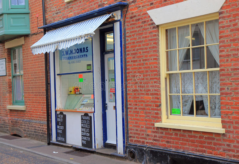 Download Small Fishmongers Shop With An Awning. Editorial Photography - Image: 33578797