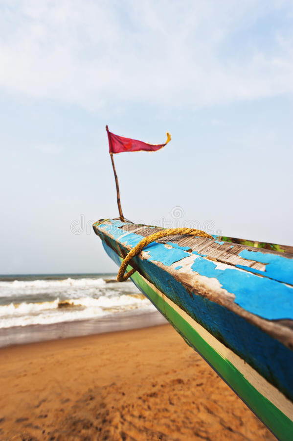 Download Small Flag On The Bow Of A Fishing Boat, Puri, Orissa, India Stock Photo - Image: 36256046