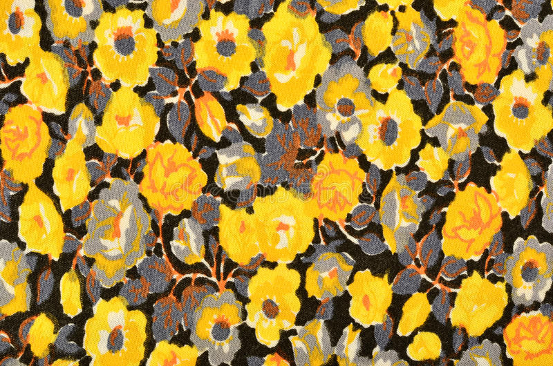 Small Floral Pattern On Black Fabric. Stock Illustration ...