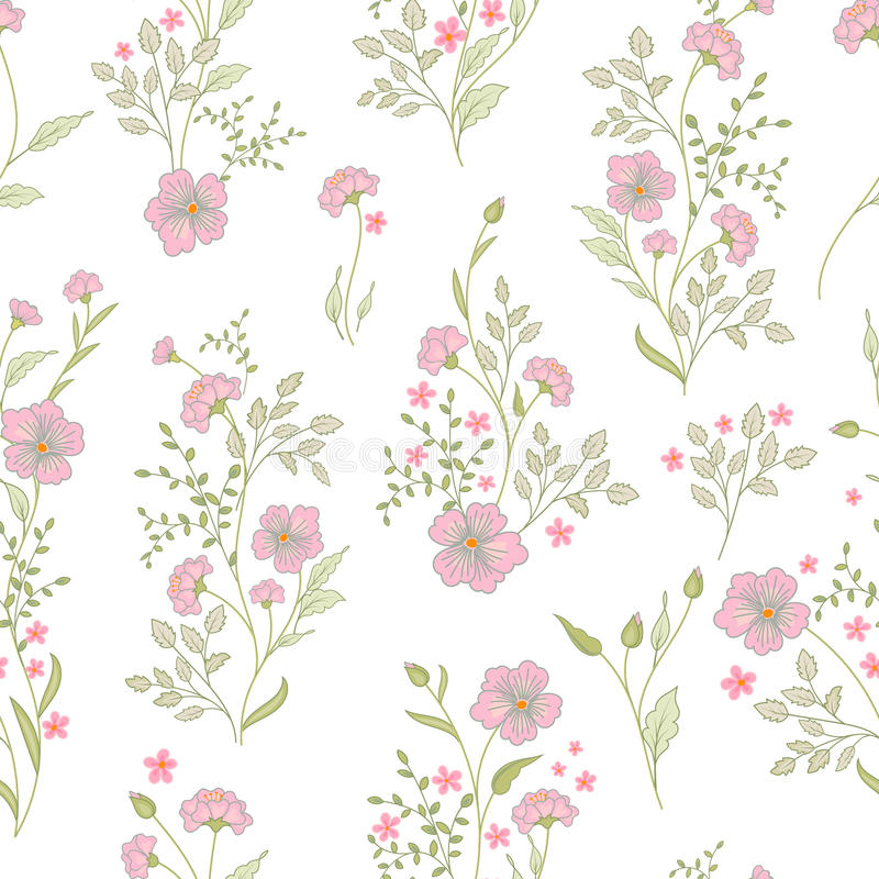 Small Flower Pattern. Vintage Floral Seamless Background