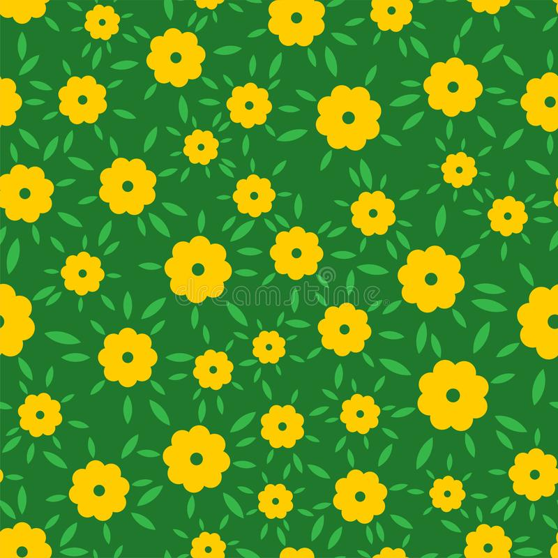 Small flowers pattern seamless. garden stuff background. vector illustration stock illustration