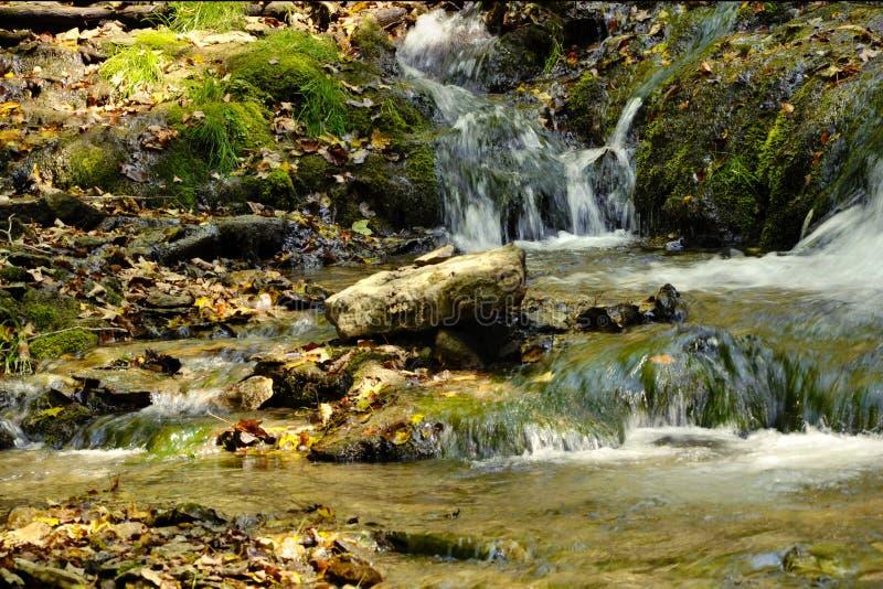 Small Foaming Falls Stock Photo