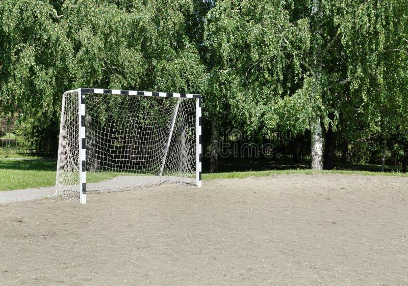 Small Football Gate Stock Photo