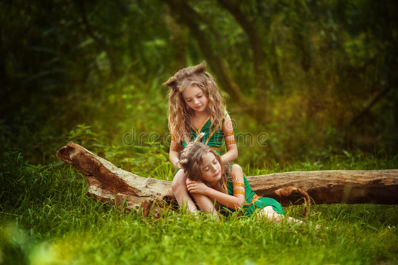 Small forest dwellers royalty free stock photos