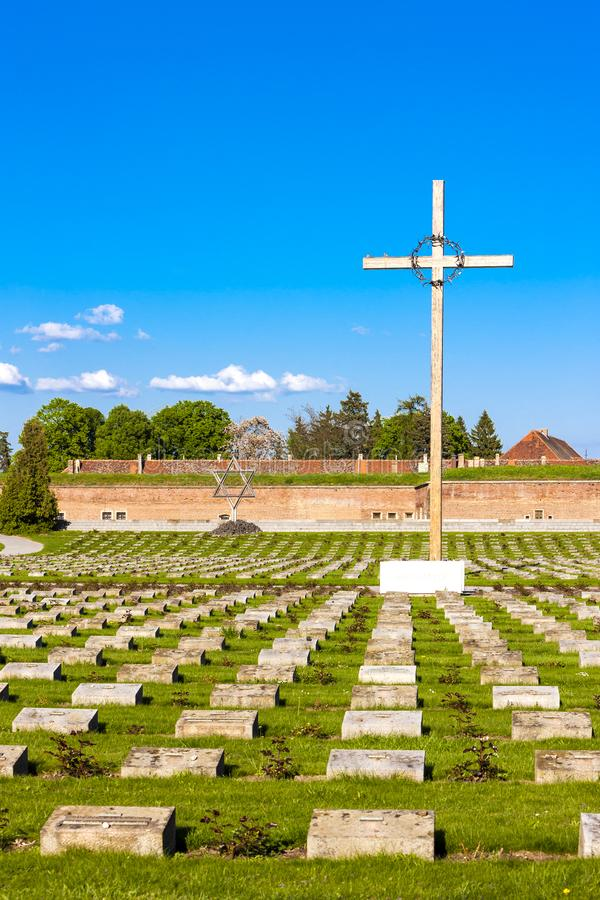 Free Small Fortress Theresienstadt With Cemetery, Terezin, Czech Repu Stock Images - 166971714
