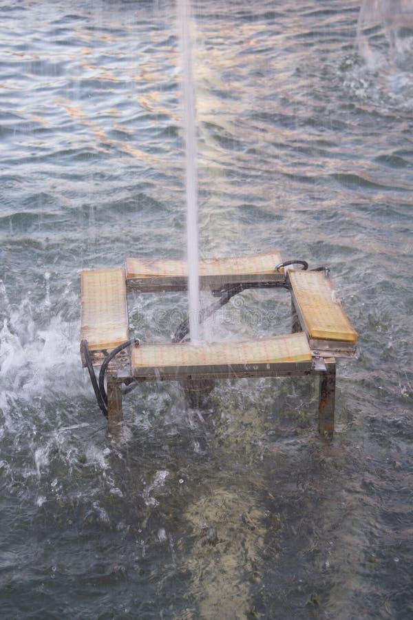 Small fountain in the garden,Thailand royalty free stock photos