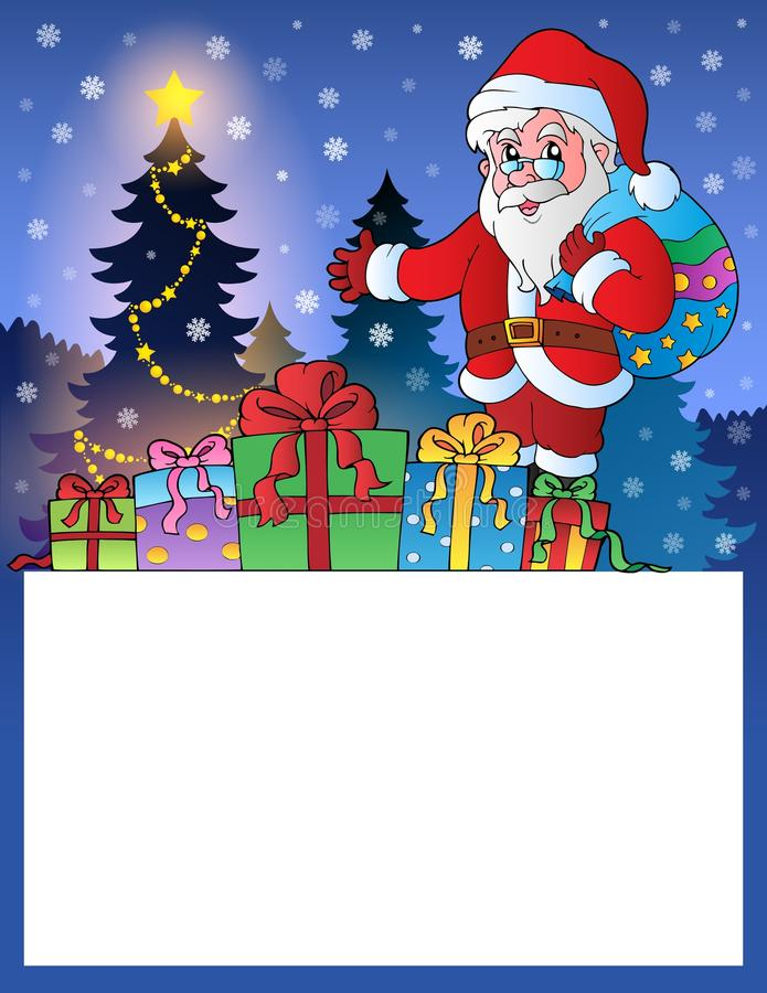Free Small Frame With Santa Claus 3 Stock Photography - 35964712