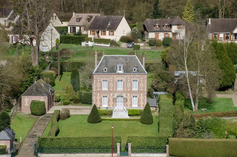 Small French Chateau Style House On Seine Stock Photo Image of