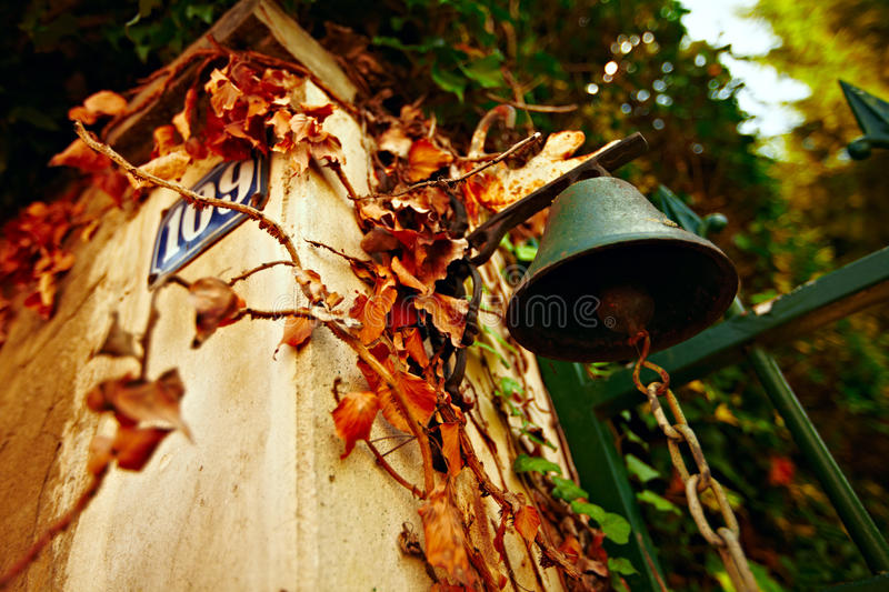 Small french countryside bell stock photography