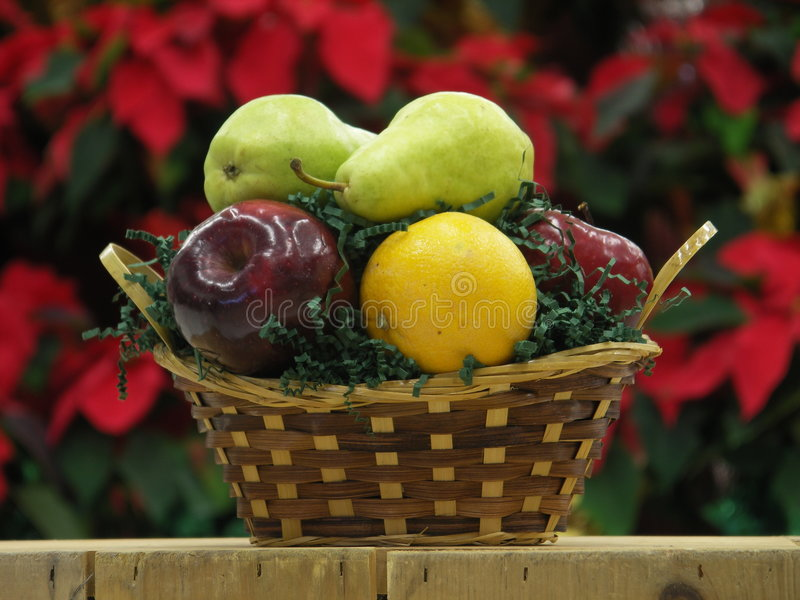 Small fruit basket royalty free stock images