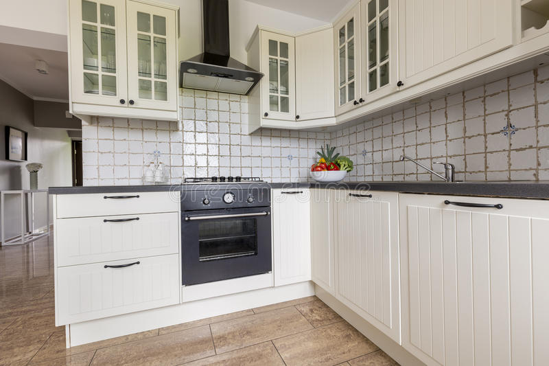 Small but functional kitchen idea royalty free stock image