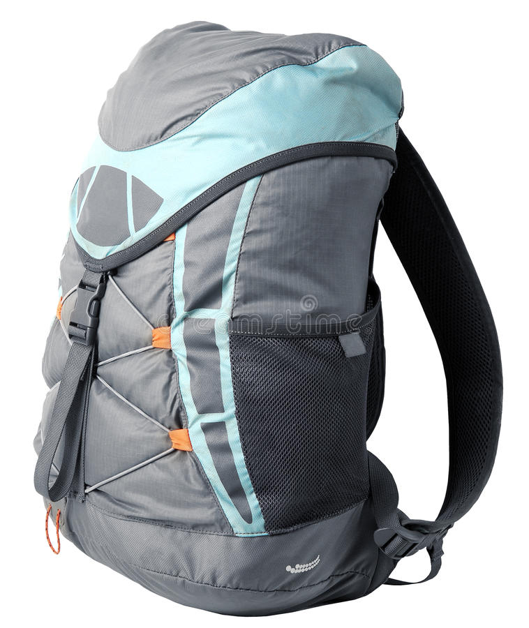 Small general purpose rucksack. On white royalty free stock photography