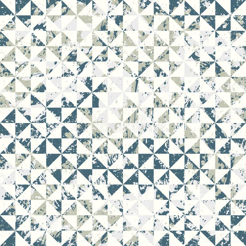 Small geometric abstract mosaic pattern vector illustration