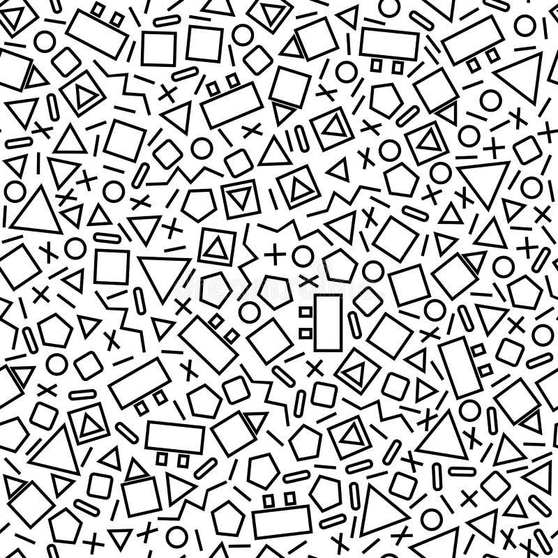Small geometric shapes royalty free illustration