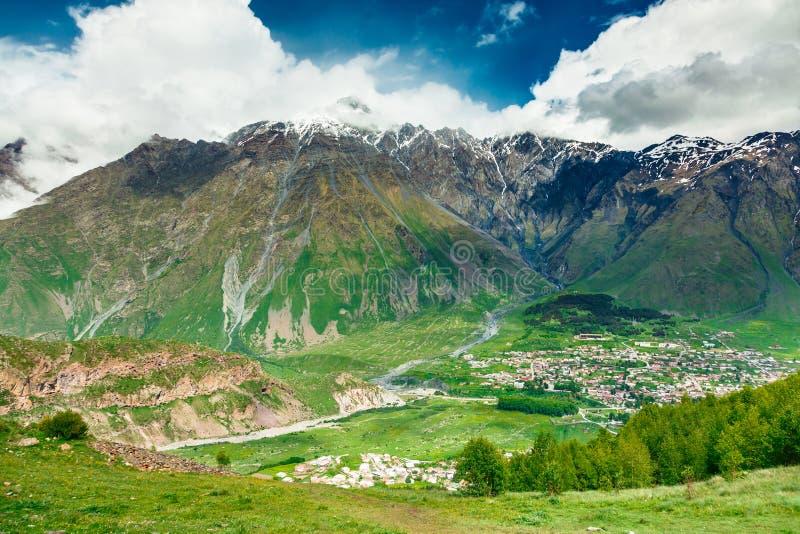 Small Georgian village stock photo