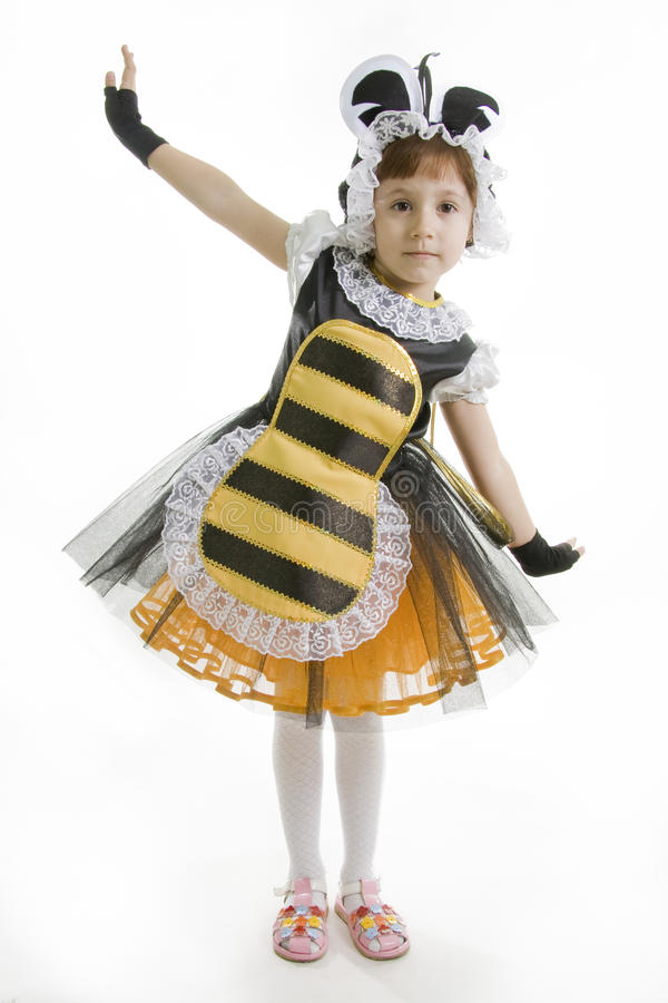 Free Small Girl Is Bee Costume Stock Photos - 16187373