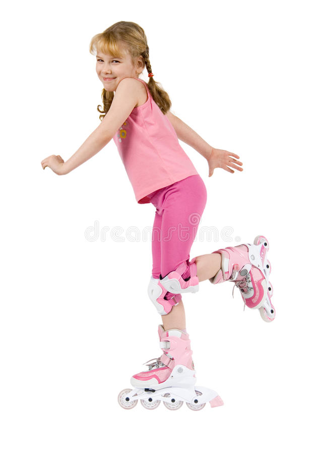 Free Small Girl On Roller-skate Stock Images - 11300114