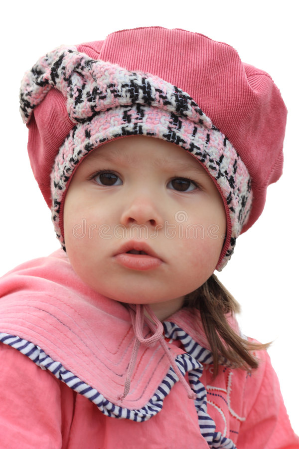 Small girl in pink royalty free stock images