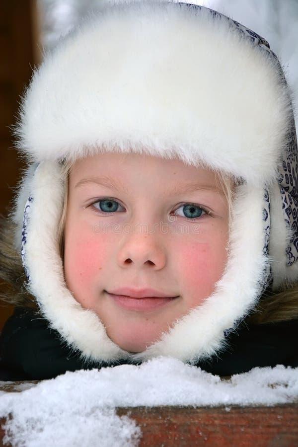 Small girl portrait stock photo