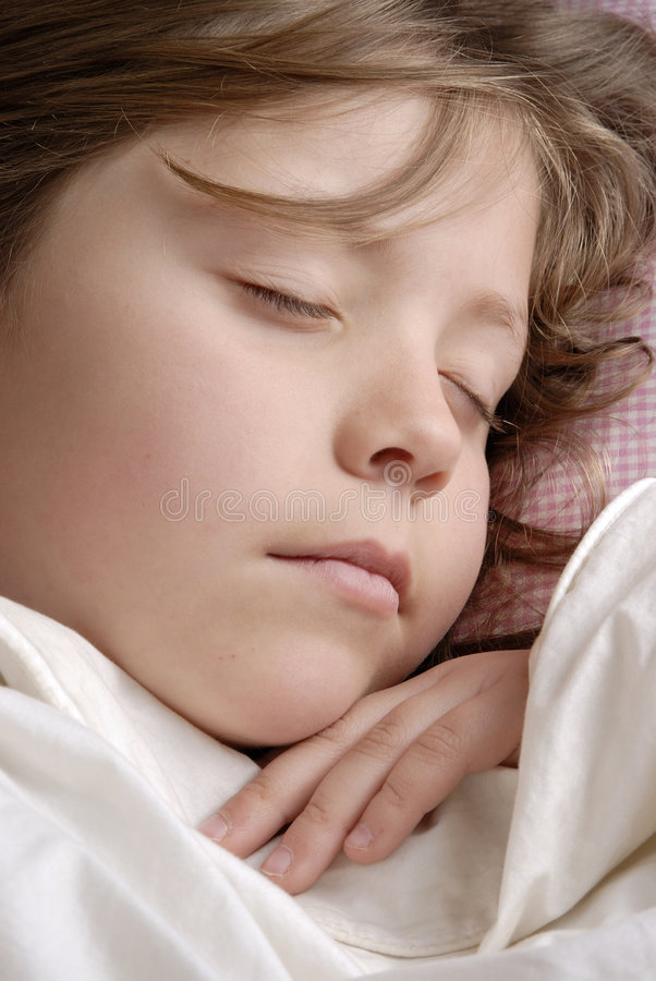Download Small girl sleeping stock image. Image of candour, close - 1279069