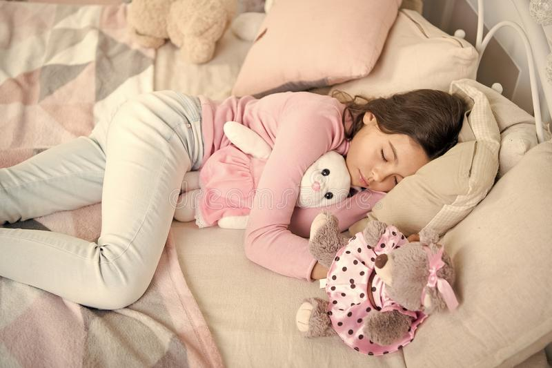 Small girl sleeping at home. christmas family holiday. happy new year. Christmas shopping. waiting for santa. We love. Christmas. The morning before Xmas. Sleep stock photography