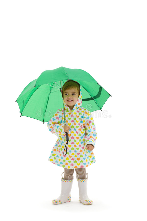 Small girl with umbrella royalty free stock images