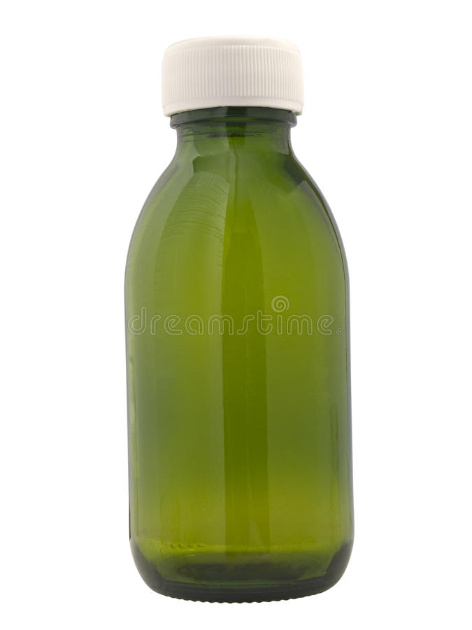Small glass bottle stock images