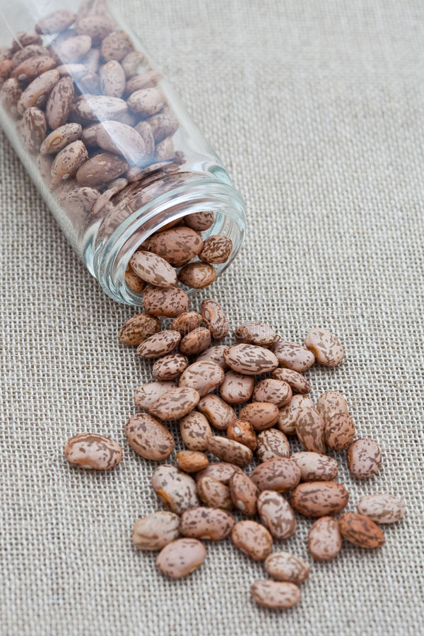 Download Small Glass Jar With Pinto Beans Stock Images - Image: 13455114