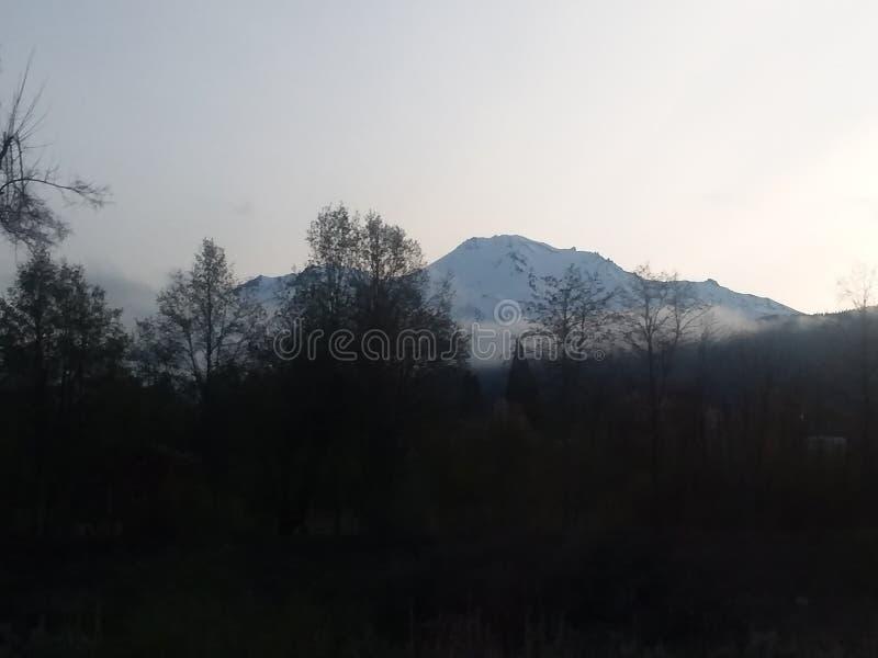 Mt. Shasta from afar royalty free stock photo