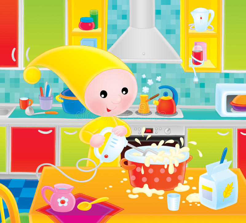 Download Small gnome cook stock illustration. Illustration of little - 12251933