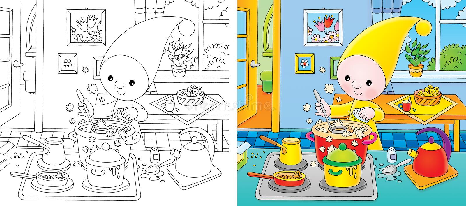 Download Small gnome - cook stock illustration. Image of small - 12415671