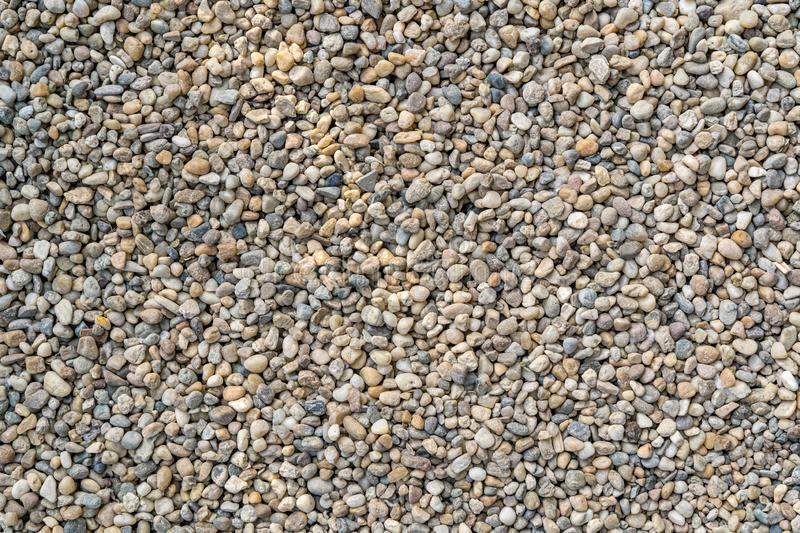 Small gravel stones textured background pattern.  royalty free stock images