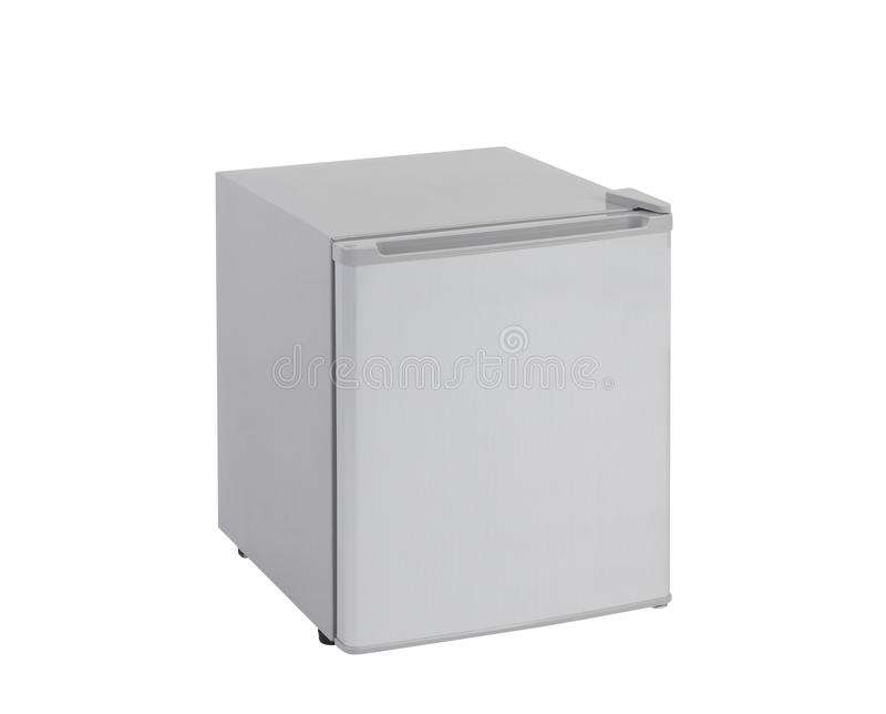 Small gray refrigerator