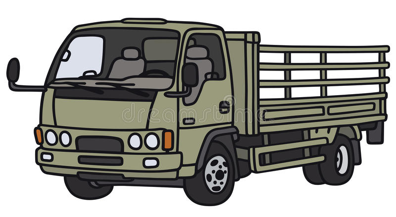 Small green lorry royalty free illustration