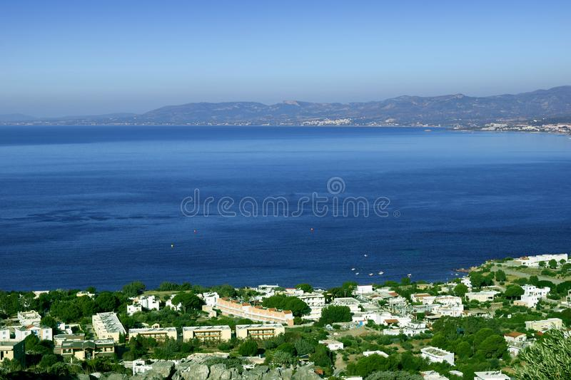 Small village by the sea royalty free stock photo
