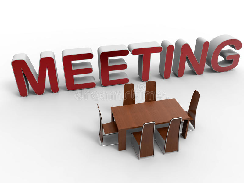 Small group meeting concept vector illustration