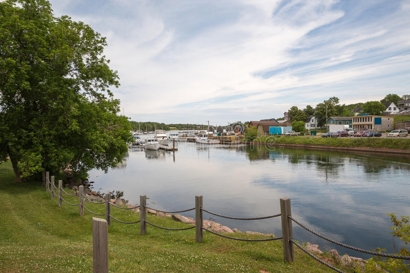 The small harbor of Montague on Prince Edward Island. The small town of Montague on Prince Edward Island royalty free stock images