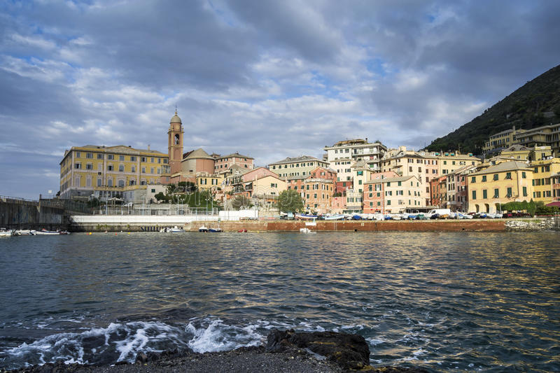 Download Small harbor of Nervi stock photo. Image of colorful - 26926798
