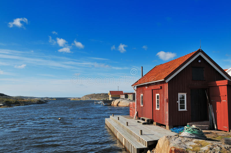 Small harbour royalty free stock photo
