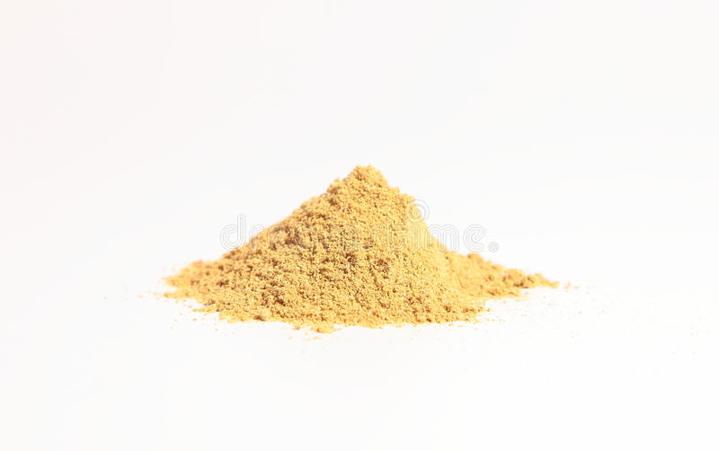 Small Heap Of Spices, The Coriander Powder Royalty Free Stock Images