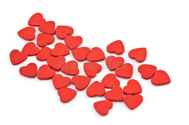 Small hearts. On white background stock images