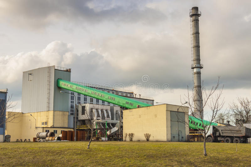 Small  Heating Plant In Poland. Stock Photo