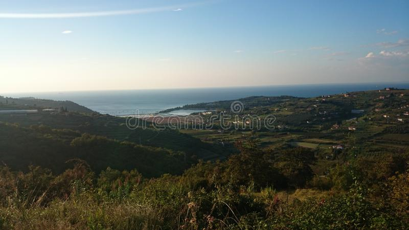 Small hills nature and sea royalty free stock photography