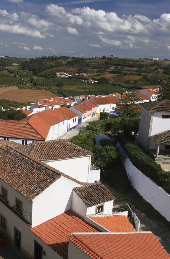 Small Historical European Town Obidos Stock Images