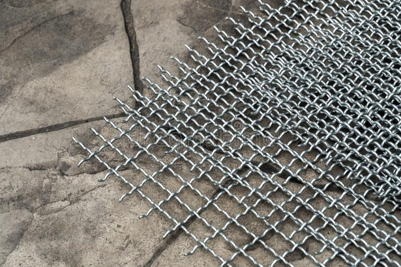 Small hole wire mesh for birds cage stock photo
