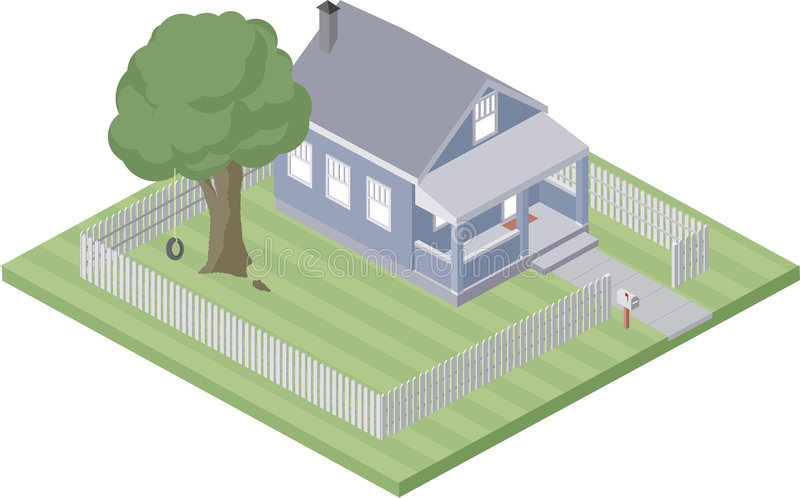 Small home stock illustration