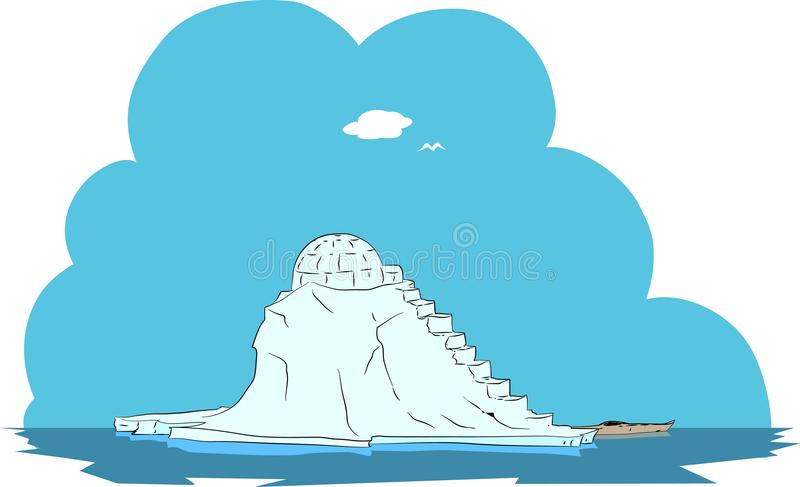 Island arctic ice and snow home royalty free stock image