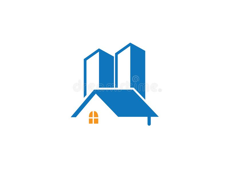 A small home in townhouse for logo design illustration. Modern building icon royalty free illustration