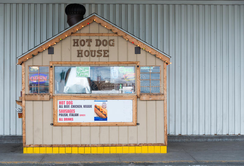 Small Hot Dog Stand, Neighborhood Business royalty free stock photography