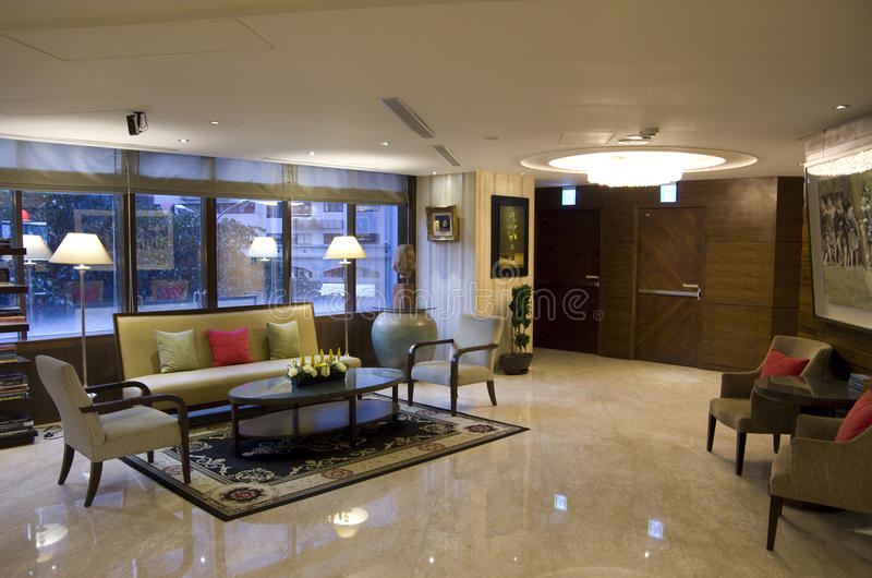 Hotel Foyer Furniture : Small hotel lobby stock photo image of interior front